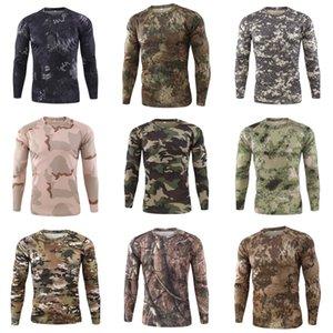 Autunno Moda Uomo T-shirt O-Collo Slim Fit di Maglieria Uomo manica lunga Pullover magliette Men # 164