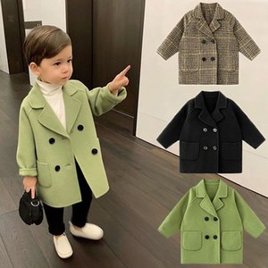 Baby Little Boys Winter Coat Kids Wool Jackets Toddler Boy's Fall Clothes 2020 Warm Long Outfits Parkas for 2 3 4 5 6 Years LJ201203