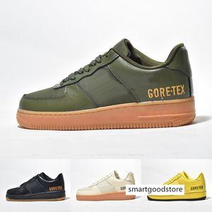 2019 New 1 07 Low GORE-TEX Shoes Men Women Green Team Gold Navy Skateboard Sneakers Size 36-45