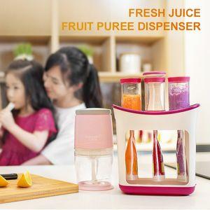 Baby Pudee Squeezer Petit Blender Baby Food Maker Maker Station Squeeze Juicer Cuisine Splitter Food Maker Maker et 10 Sac de rangement W1231