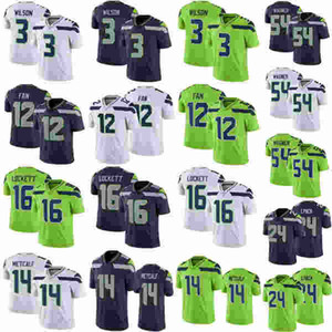 Mens Femmes Kids / Jeunesse Tyler 16 Lynch Marshawn 24 Lynch Russell Bobby Wagner DK 14 Metcalf 3 Wilson Fan Jersey