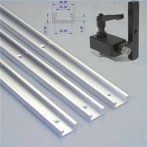 1 Set Mitre piste Stop And Slot T-Track T-Slot 300-800mm Mitre en alliage d'aluminium pour l'outil du bois voie d'arrêt manuel de bricolage qqHm #