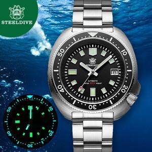 Steeldive Nh35 automatico 200m Diver orologio meccanico di lusso del cristallo di zaffiro luminoso di guida Orologi Uomini