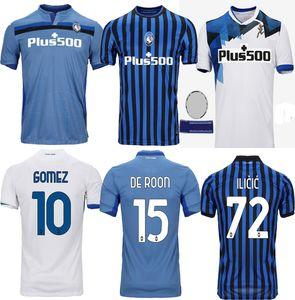 2020 ATALANTA 2021 أتالانتا كرة القدم جيرسي # 10 PICCINI 21 # GOMEZ # 72 ILICIC 20 21 الرجال maglietta دا calciatore