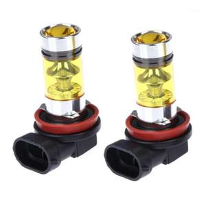 2 х High Power LED освещает 100W H8 H11 Желтый противотуманный фонарь 2828 фар 20