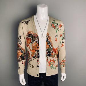 2021 Ultime Cardigan Maglione lavorato a maglia degli uomini di Heavy Industry moda stampa digitale Top Ma Teng modello Coat Sweater