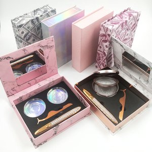 Self-adhesive Eyeliner Pen Glue-free Eyeliner & Tweezer & False Eyelashes Packaging Box Set