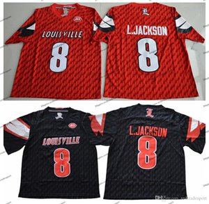 2018 Universidade Red Louisville Cardinal Lamar Johnson College Football Jerseys barato 8 Lamar Johnson L.Johnson camisas de futebol