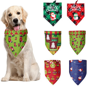Weihnachten Haustier Dreieck Schal Haustier Saliva Handtuch doppeltes Gesicht Hund Schal liefert Weihnachtsschmuck Hundebedarf T2I51600