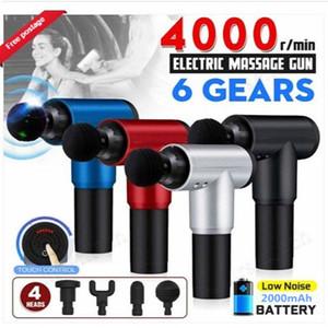 Multifonction fascia Gun Body Muscle Therapy Sport magique Guns massage électrique Booster Vibration Percussion massage des tissus profonds Soulagement de la douleur