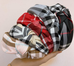 Широкая сетевая сетка для печати головной голову леди волосы обруч очарование женщин мода верхняя завязанная голова повязка на голову ткань носить эластичные перекрестные волосы аксессуары для волос