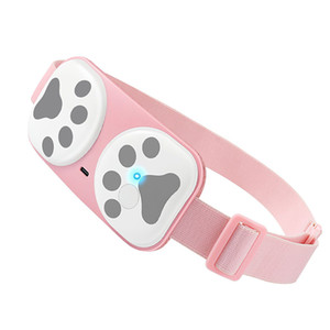 Mini Smart Wireless Cervical Warm Palace Belt Graphene Heating Belly Vibrating Lady Menstrual Stomachache Waist Pain Massager Machine USB