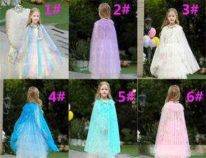 Kids Girls Cosplay Lace Cloak Cape Cartoon Costume Children Adult Princess Shawl Party Halloween Christmas Clothing dc851