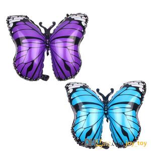 Смешайте 4 цвета 29 дюймов животных насекомых бабочки Воздушные шары алюминиевой фольги, Giant день рождения партии шары для детей украшения