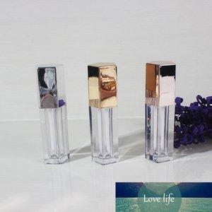 / 50pcs vazio 4,5ml de cinco lados tampa de diamante labial tubo de brilho, plástico de alta classe embalagem labial cosmético bla