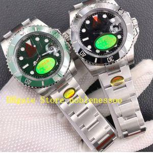 2 couleurs noir vert céramique V11 Version masculine 116610 CAL.3135 ETA montre 904L acier noobf n plongée d'usine KIF amortisseur Hommes montres