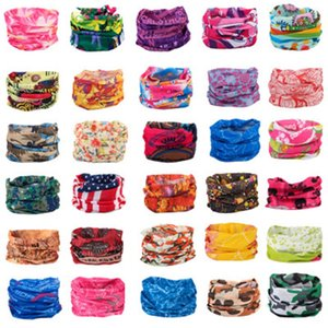 Riding Scarves Multifunctional Outdoor Cycling Masks Scarf Magic turban Sunscreen Hair band Riding Cap Multi Styles ZZA584-1