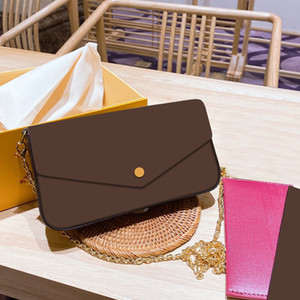 2020 New Designer Mini Shoulder Bags Women Chain Mini Crossbody Bag Floral Letter Genuine Leather High Quality Wallet Handbags