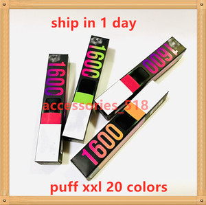 Puff XXL 1600puffs Disposable With Valid Scratch Code Vape Pen Device Starter Kits Empty Disposable Device Kits Puff Bar Flow Xtra Plus