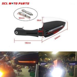 ALCONSTAR-RACING Motosiklet Handguards El Muhafızları Ile LED Dönüş Singnal Işıklar Için Scooter Pit Bisikleti ATV Dirt Bike MX Motocross1