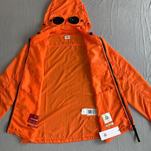 CP Felpa Topstoney Mens Jacket Cyberpunk casuale Streetwear Goggles Zipper all'aperto Hood Windbreaker 3Colors società Mens Coat TAGLIA M-XXL