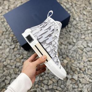 비스듬히 높은 상위 낮은 운동화 비스듬한 인쇄 기술 가죽 19SS 기술 스포츠 스니커 클래식 신발