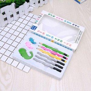 Çocuklar VEQ0 # için Kurşunkalem Oturan Duruş Hatırlatma 0.7mm Kalem Kurşun Duruş düzeltme Tutuş ile Akıllı Yazma Suit Kırtasiye Seti