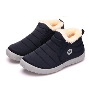Big size 35-44 plush women shoes winter couple unisex snow boots warm fur casual boots women slip on mother winter shoes XKD2134