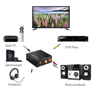 Portable USB DAC Digital To Analog Audio Converter Optical Fiber AUX RCA L R Converter SPDIF Digital Audio Decoder