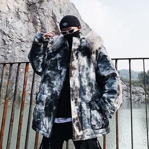 Privathinker 2020 Winter Casual Негабаритные Parka Теплое пальто способа Мужчины сгущает молнии Маскировка Уличная мужские куртки