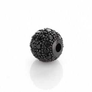 CZ Diamond Assed Spacer Bears 8 мм ювелирных изделий Браслет для ювелирных изделий Круглый горный хрусталь круг с бисером для ювелирных изделий DIY