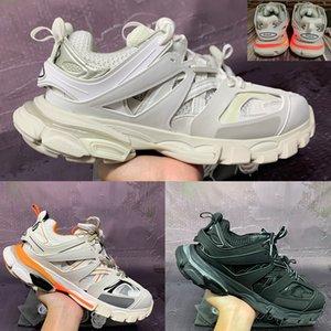 2021 Nuevo Mejor pista 3,0 llevado mens parís zapatos casuales de color naranja blanco gris de los hombres de color rosa las mujeres zapatillas de deporte negro de Estados Unidos 5,5-11