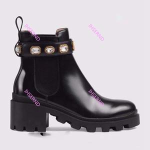 Gucci Frau Lederschuhe schnüren sich oben Band Gürtelschnalle Ankle Boots Fabrik direkt weiblichen rauen Ferse runden Kopf Herbst Winter Martin Stiefel