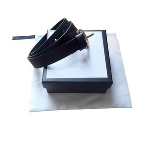 High Quality fashion Men belt womens g big gold buckle Genuine Leather black and white color Cowhide Belt For Mens Belt With box