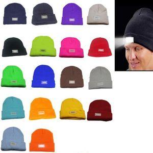5 lumières LED Chapeau d'hiver Beanies Mains chaudes Pêche Chasse Caps Courir Camping 14 couleurs Dhl gratuit OWA2183