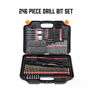 246 piece drill bit set tool combination set woodworking flat drill bit cement drill hole opener