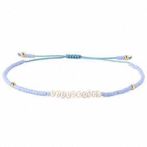 KELITCH Blue Sky amitié Bracelets Tissé Charm Miyuki Seed cordelette de perles Bracelets Bangles bijoux pour les femmes cadeau de la #