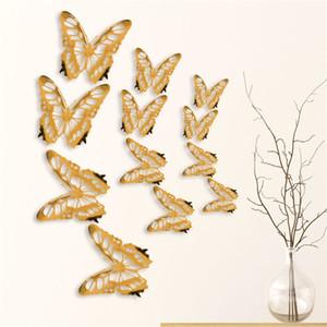 Adesivi della parete della farfalla creativa Tessuto Hollow Living Bedroom Butterfly Decoro Decorazione Simulazione Farfalla Bellezza Adesivo da parete HWB4704