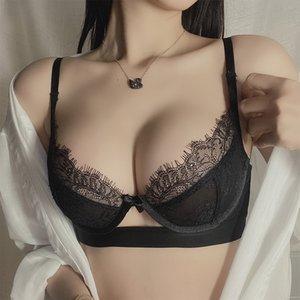 Shaonvmeiwu super fino sem esponja transparente lingerie sexy lingerie conjunto de sutiã de perspectiva das mulheres