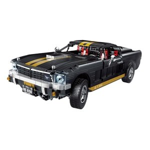 New 33008 Technic Series The 1965 Mustang GT 350-H Model Building Blocks Set Classic MOC Education Toys for Children X0102