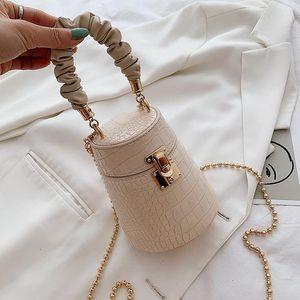 Fashion Women bags new crocodile pattern bucket bag chain purse crossbody shoulder bag 01-SB-xkstew