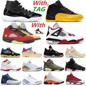 2021 New Mens Basketball Shoes 11s 25th Anniversary 12s University Gold 4s sail Guava Ice 5s What The 13s Starfish 6s Sports Sneakers