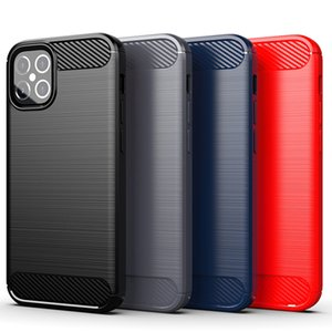 Carbon Fiber Silicone Phone Case for iphone 12 11 Pro Max SE 2020 8 7 Plus Cover Shockproof TPU Case for iphone 12 mini X XR XS Max