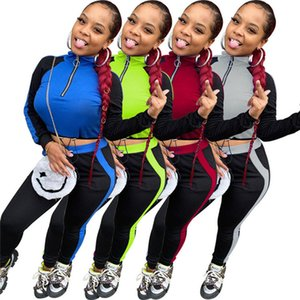 Womens outfits long sleeve 2 piece set tracksuit jogging sportsuit shirt leggings outfits sweatshirt pants sport suit hot selling