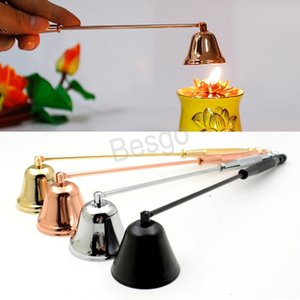 Trumpet Shaped Candle Snuffer Scented Candle Extinguisher Stainless Steel Candle Wick Snuffers Home Decor Candles Extinguisher BH2968 TQQ