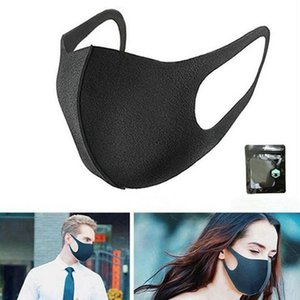 New black  face mask mens and womens sponge cycling mask can be washed and reused