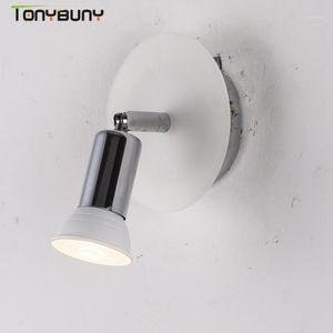 Iron wall lights bedside wall lamp sconce modern light for bedroom adjustable steering head GU10 makeup mirror light1