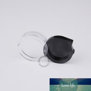 Excellent Cosmetic Containers 50 x 2g 2ml Plastic Eyeshadow Powder Blush Lipstick Jar Black+Clear Sample Display Box