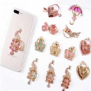 titular de la rotación de Bling del diamante del soporte del teléfono soporte de metal para el iPhone 7 8 X del dedo anular de Samsung del soporte del sostenedor
