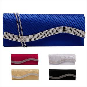 Evening Bags Fashion Women Satin Rhinestone Handbags Wedding Clutch Purse Evening Party Bag Drop Shipping Good Quality